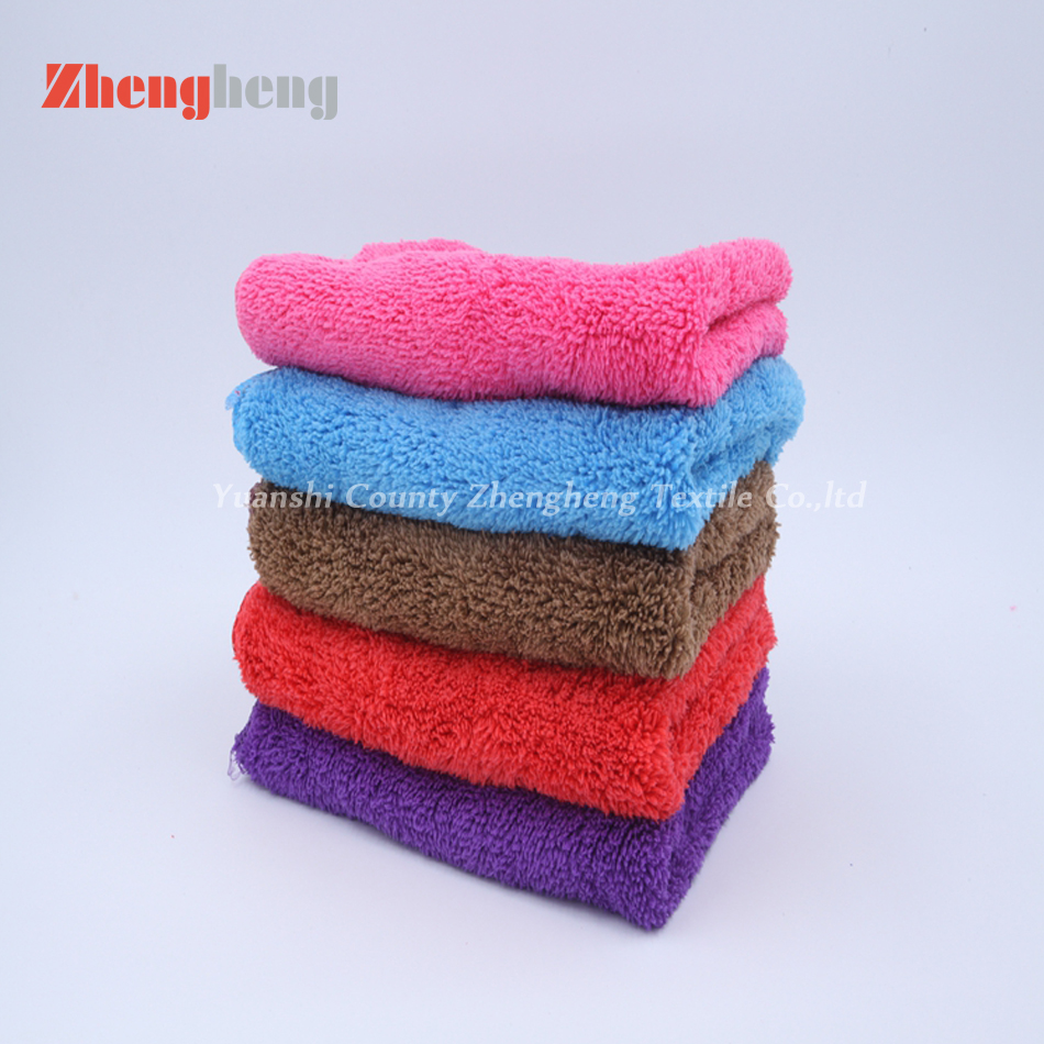Microfiber Material Coral Fleece Towel with Polyester
