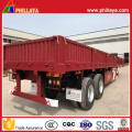 High Flat Bed Side Wall Flatbed Cargo Box Semi Trailer