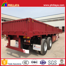 2-4axles Heavy Duty Flatbed Sidewall Bulk Truck Semi Trailers
