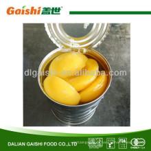 metades de pêssego amarelo enlatado, pêssegos enlatados especificação