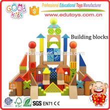 3 Years Children Architect Set Kids Bricks Toy, 100 Piece Hard Wood Kids Blocks Toy