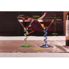 Стеклянный кубок, стеклянная чашка для шампанского, виски, коктейль и мартини