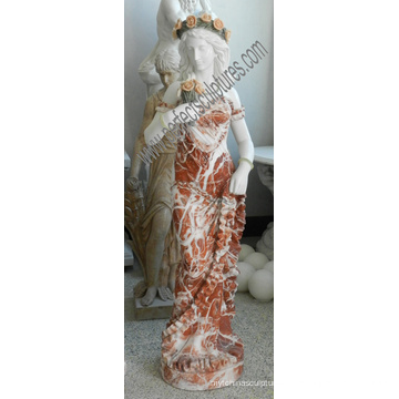Escultura de mármol tallada piedra italiana de la estatua del jardín de la estatua para la decoración del hotel (SY-C1302)