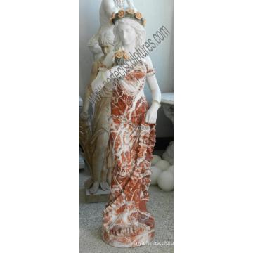 Итальянский резьба по дереву статуи из камня, резная мраморная скульптура для украшения гостиницы (SY-C1302)