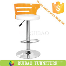 High Heel Shoe Chair /Outdoor Bar Stool Chair Leather Seat and Acrylic Back