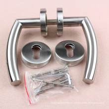 Tubular Stainless Steel Door Handle with roset