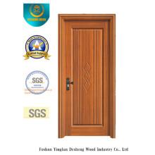 Porte de style chinois de couleur jaune pour l'intérieur avec bois massif (xcl-842)
