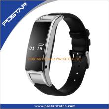 Mult- Função Smart Watch com Correia de Couro Genuine
