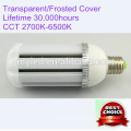 E40 360 Degree 30w Solar LED Street Light with Transparent / Frosted Cover