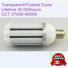 E40 360 Grad 30w Solar LED Straßenlaterne mit transparenter / mattierter Abdeckung