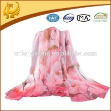 2015 Écharpes en soie en mousseline de soie à chaud, châle élastique multifonctionnel pour dames