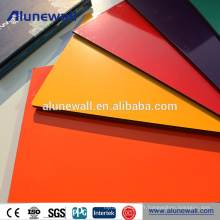 Panneau composite aluminium Alunewall à haute brillance pour plafond