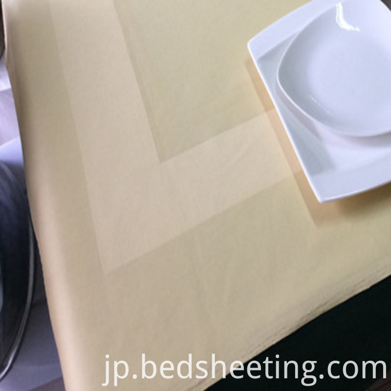 Colored Cotton Satin Band Tablecloth