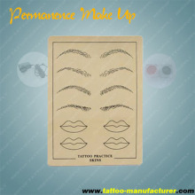 Permanent makeup tattoo practice skin