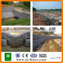 galvanized wire rock wall hexagonal gabion box