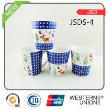 Vário projeto Projete o copo relativo à promoção do Cappuccino da porcelana