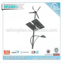 As vendas quentes 120W levou luzes de rua solares do vento com painel solar / conduziu a iluminação de rua solar