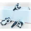 Factory Children Adorable Cartoon Panda Retractable Earphone