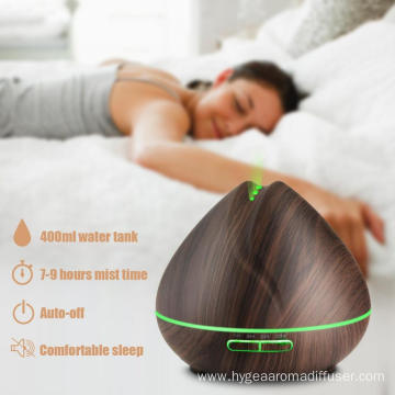 400ml Wood Grain Ultrasonic Oil Humidifier