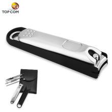 liga de aço inoxidável personalizado marcas apanhador toe conjunto cortador de unhas