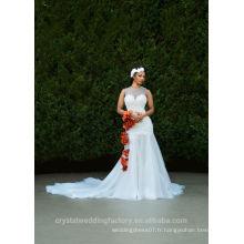 Dernières robes Alibaba élégantes collier blanc une ligne Robes de mariée Vestidos de Novia avec Long Train 2016 LW257