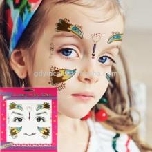 Alibaba profissional fabricante magic temparory máscara facial tattoo sticker