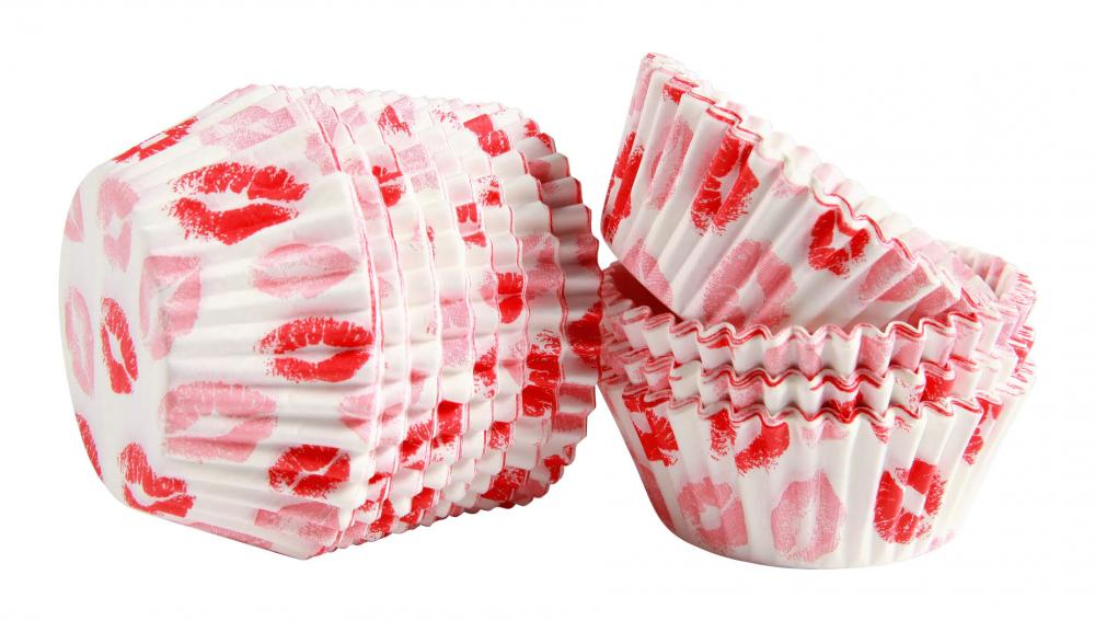 Valentine's Day Red lips Baking Cup Cupcake Papers