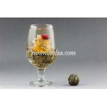 Shuang Long Xi Zhu (Doppelte Drachen Perle grün blüht) Blooming Tea EU STANDARD