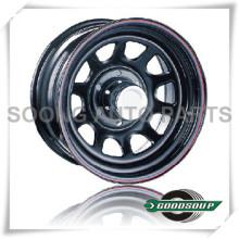 """Roues Daytona-Non Beadlock GS-20101 Roue en acier de 15 """"à 17"""" avec différents trous PCD, Offset et Vent"""