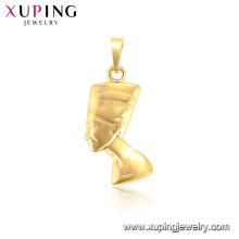 33980 xuping copper alloy fashion special design gold plated figure pendant