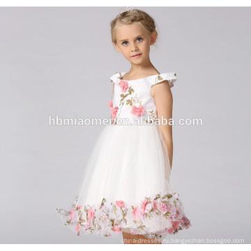 -Последний западный дизайн рукавов принцесса девушка платье 2017 новорожденных девочек платье партии дизайн для партии износа