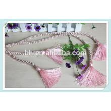 Cortina cor-de-rosa da cortina Corda do Tieback da corda da cortina
