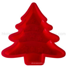 Árbol de Navidad molde de pastel de silicona (RS36)