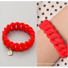 Custom Fashionable Elastic Silicon Rubber Wrist Band