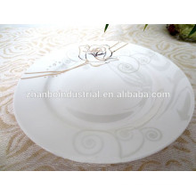 Neue Knochen Porzellan Platte, Bone China flache Platte