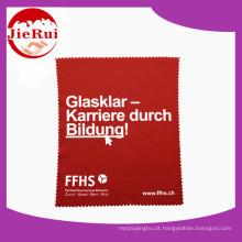 Logotipo impresso de lenços óticos de microfibra para óculos