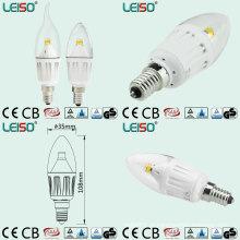 330 graus 4W CREE Chip Scob LED vela lâmpada (LS-B304-CWWD / CWD)