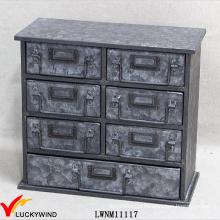 7 Шкаф для хранения ящиков Промышленная стильная мебель