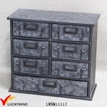 Gabinete de archivado de 7 cajones Muebles de estilo industrial