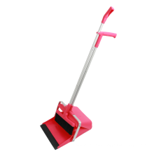 New Type Household Long Handle Windproof Sweeping Dustpan and Broom Set Outdoor Cleaning Plastic All-season Customized Aluminum