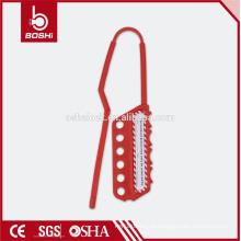 BOSHI Plastic Hasp Safety Lockout BD-K43, para etiquetas de bloqueio isoladas usando