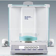Balance électronique de laboratoire d'affichage d'affichage à cristaux liquides de 120g 0.001g