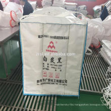 Plastic jumbo bags 1000kg for carbon-white , silica aerogel packing bags