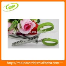 5 lâmina inoxidável roubar tesouras / tesouras de cozinha / 5 lâmina tesouras de erva