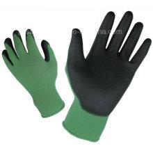 Красочные нейлон работы перчатку с Пу Palm с покрытием (PN8005)