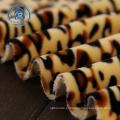 Tecido polar fino 100% poliéster com estampa animal