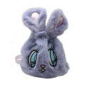 GREY RABBIT PLUSH BACKPACK-0