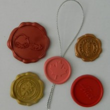 Custom design self adhesive wax seal peel