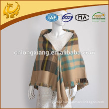 China Factory Woven Multi-purpose Blanket Design Tartan Check Blanket For Women