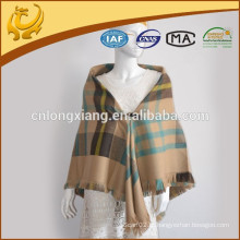China Factory Woven Multi-purpose Blanket Design Tartan Check Blanket For Women